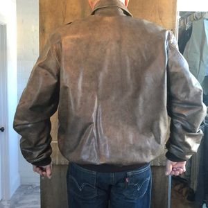 "LL Bean leather ""Flying Tiger "" jacket"